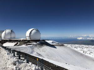 Keck I and II telescopes. Photo by Manali Shah