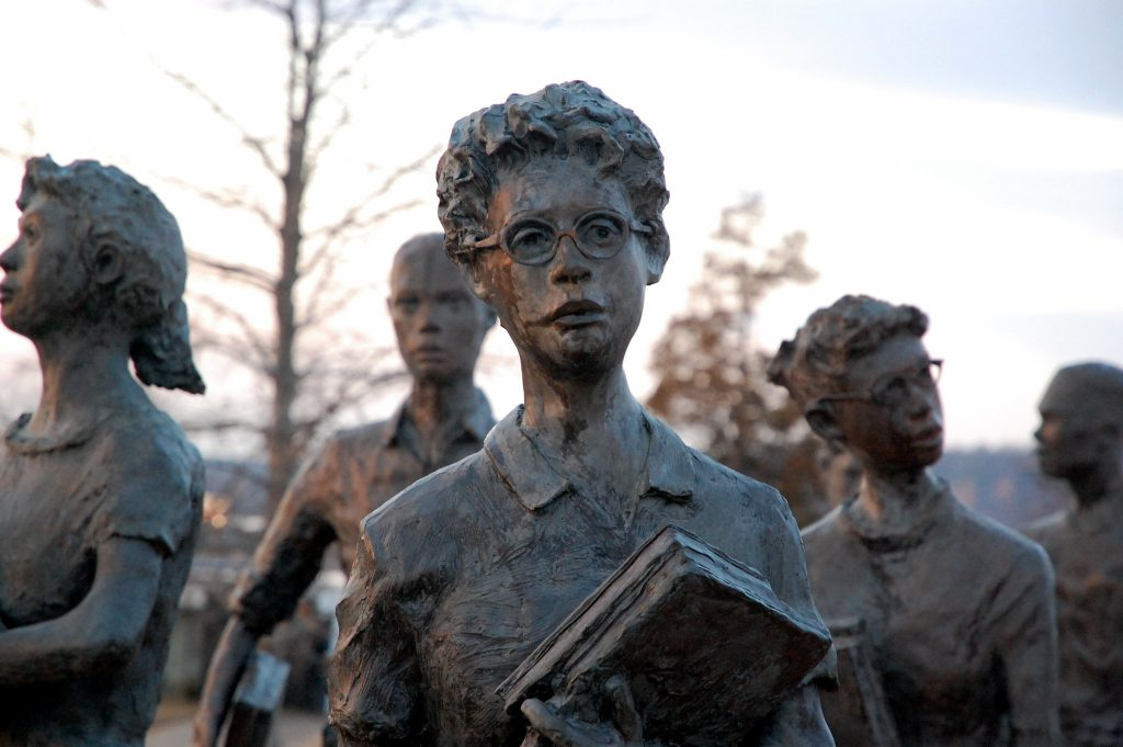 Little Rock Nine memorial photo by Steve Snodgrass under a creativecommons license