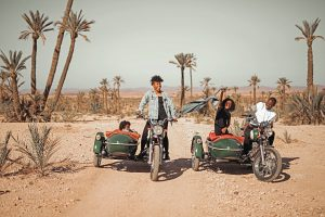Marrakech with Kids Sidecar Adventure. Courtesy of Monet Hambrick, The Traveling Child