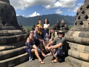 Nicole Hunter and family in Indonesia.