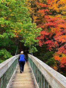 Photo of author hiking in nature courtesy of Terri Marshall