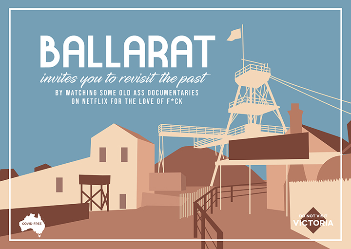 Ballarat postcard created by Guillermo Carvajal and Jess Wheeler