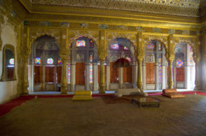 The ornately designed Phool Mahal (Flower Room), designated for princely pleasures, inside the fort. Photo: Sugato Mukherjee