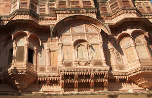Sandstone windows. Photo: Sugato Mukherjee