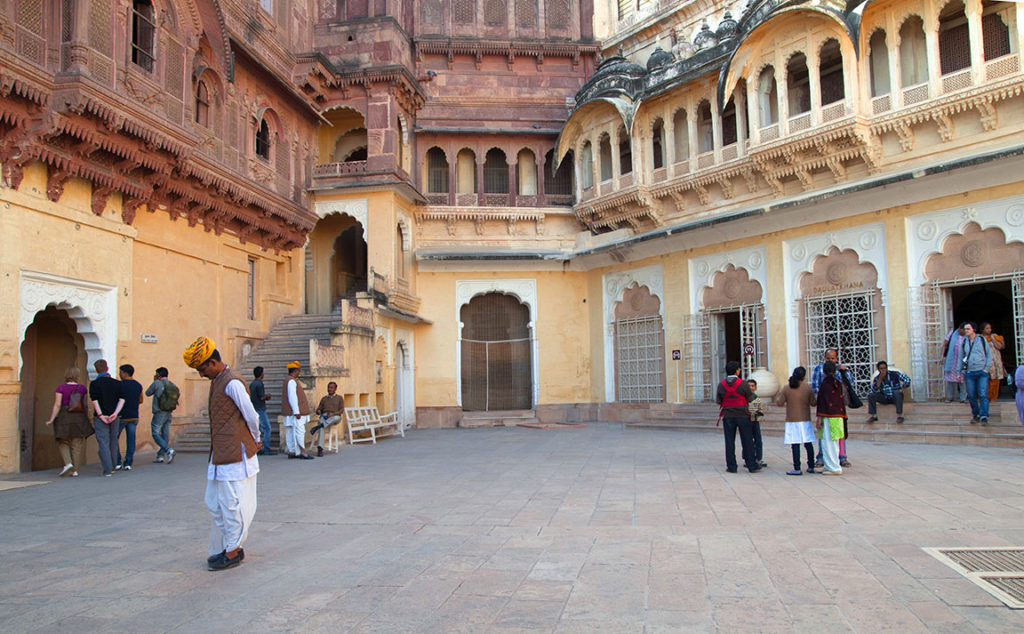 A courtyard in Mehrangarh fort. Photo: Sugato Mukherjee