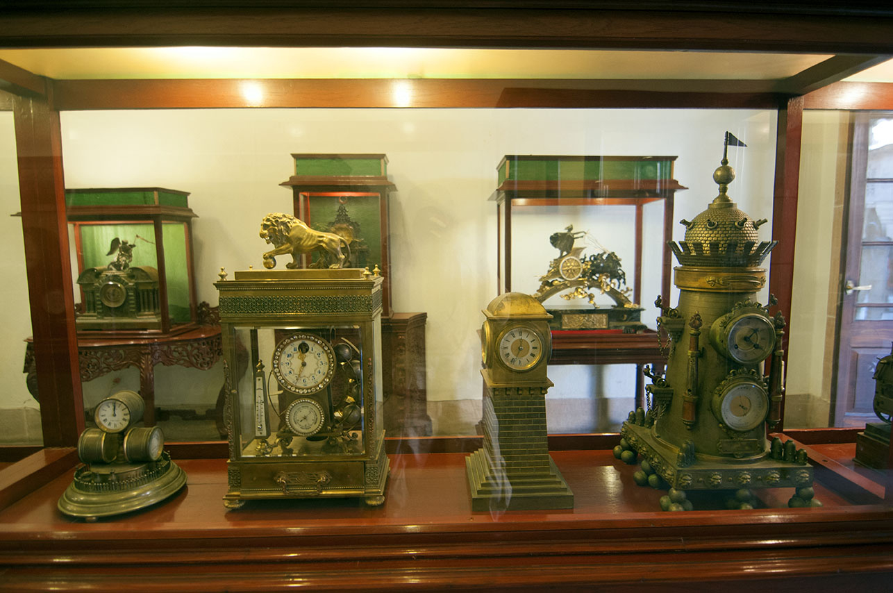 A collection of royal clocks in the museum. Photo: Sugato Mukherjee
