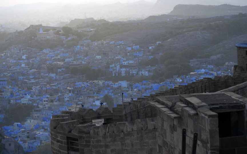 A view of the blue city from the ramparts of Jodhpur fort. Photo: Sugato Mukherjee