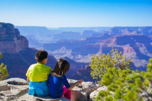 Grand Canyon with child travelers