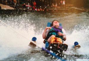 Cory Lee on water skis