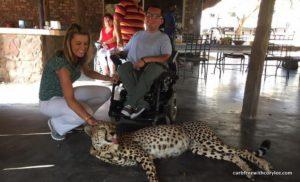 Cory and a cheetah