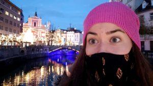 Tour guide Ivana in Ljubljana. Photo by Tonya Fitzpatrick
