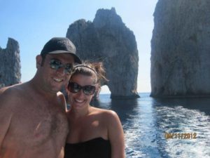 Christine and Sam in Capri. Photo courtesy of Christine Andraus