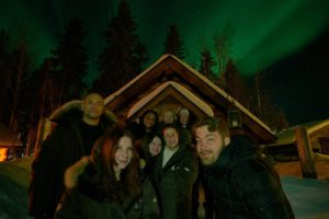 Northern Lights with Friends in the Swedish Lapland. Photo: Terri Marshall