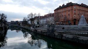 National Shop for Travel Day - River in Ljubljana, Slovenia. Photo: Tonya Fitzpatrick