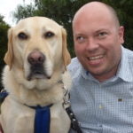 Dale Reardon and seeing eye dog Charlie