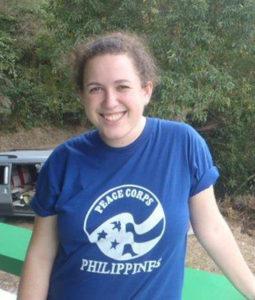 Nehama Rogozen while in the Peace Corps