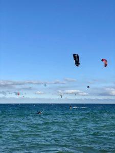 Kite surfing in Baja California. Photo: Claudia Larios