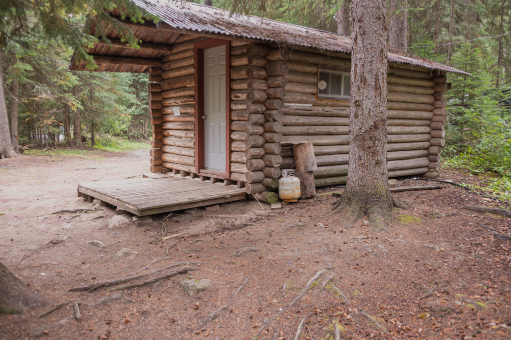 Winter Camping Log Cabin photo by Nikki Gillingham