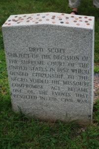 Grave stone of Dred Scott Photo: Tonya Fitzpatrick