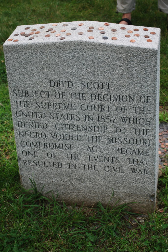 Grave stone of Dred Scott Photo: Tonya Fitzpatrick