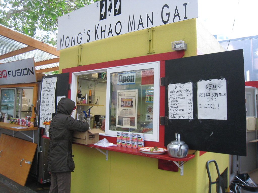 """Nong's Khao Man Gai - Downtown Portland, OR"" by dane brian is licensed under CC BY-SA 2.0"