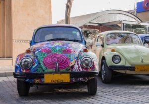 Painted-car-in-Karachi-Pakistan