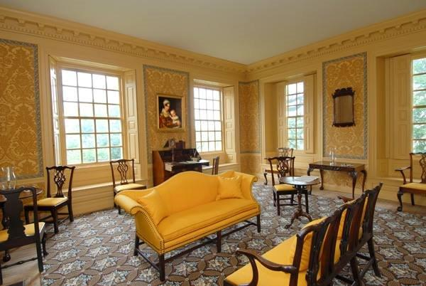 Yellow Parlor. Photo courtesy of Schuyler Mansion State Historical Site.