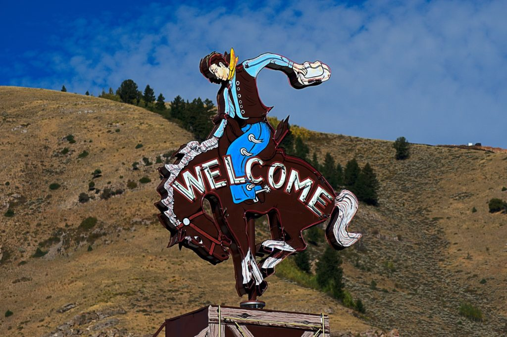 Welcome to Jackson Hole sign