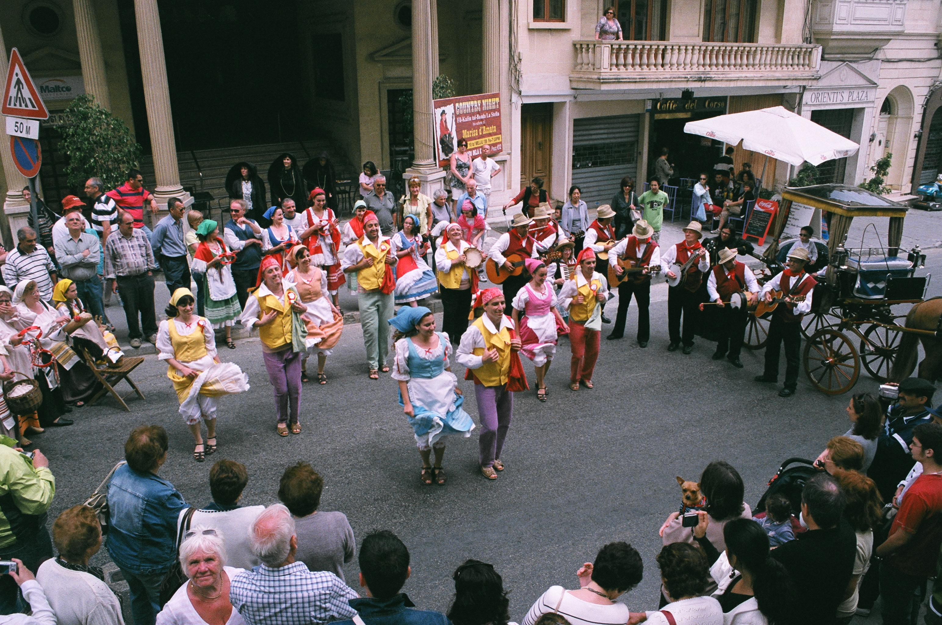 Gozo traditional dancers. Photo: Ann-Marie Cahill