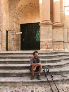 Photo of disabiled archeologist Mason
