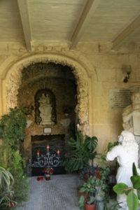 Spider web cave in Speranza Chapel. Photo: Ann-Marie Cahill