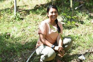 Photo of Indigenous Batak storyteller Nayla Azmi
