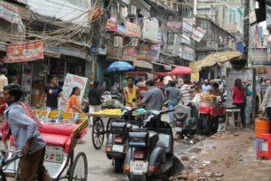 a crowded Delhi street