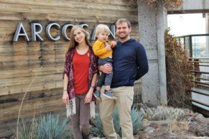 Johnson family at Arcosanti