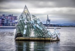 Glass sculpture of Opera House in Oslo