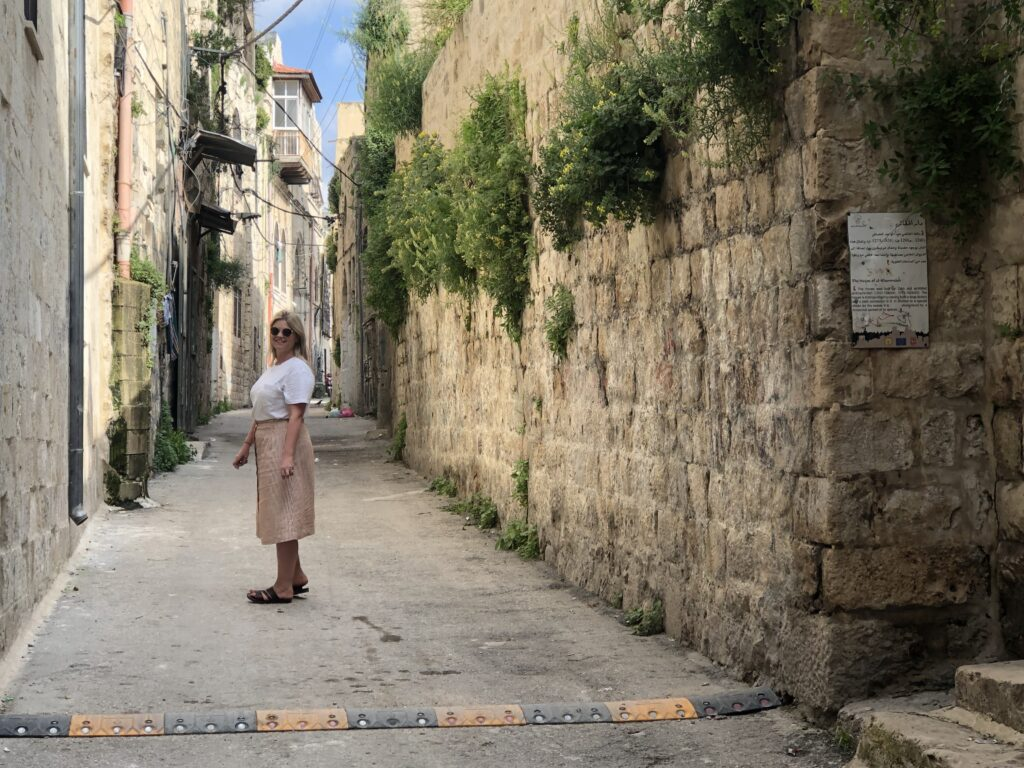 Alicia on Palestine heritage trail