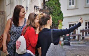 Females friends taking a selfie.