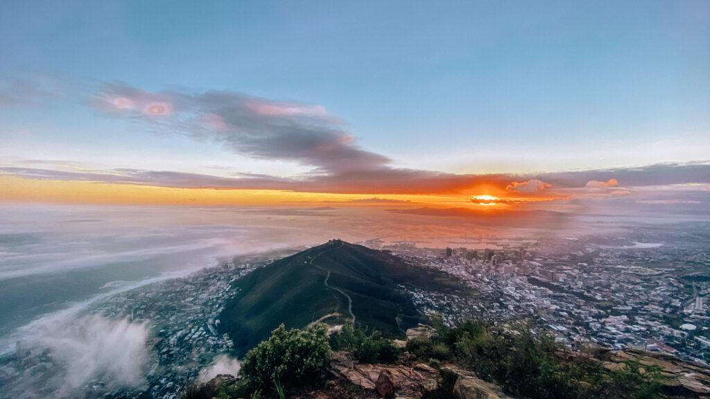 Beautiful sunrise over Signal Hill