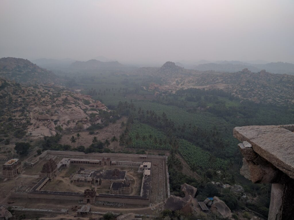 Hampi - Cloudy skies from the top of Matunga hill. Photo: Deepika Akhshar