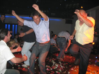 Author dancing in Greece experiencing Kefi