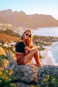 Golden hour happiness in Cape Town