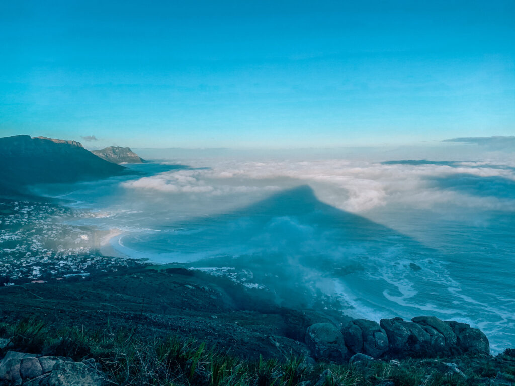 Travel -Shadow of Lion's Head in the clouds