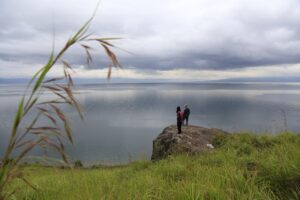 Sigumbang Village gives visitors a sense of the vastness of Lake Toba.