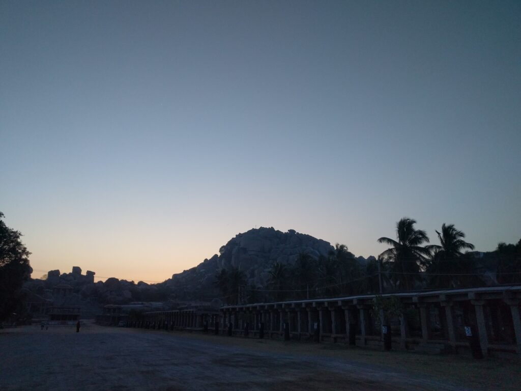 Hampi-Silhouette view of the boulders. Photo: Deepika Akhshar