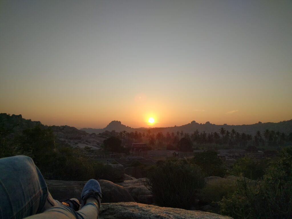 Hampi-Sunrise from the main village. Photo: Deepika Akhshar