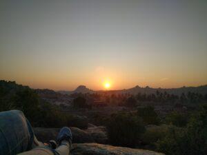 Sunrise from the main village. Photo: Deepika Akhshar