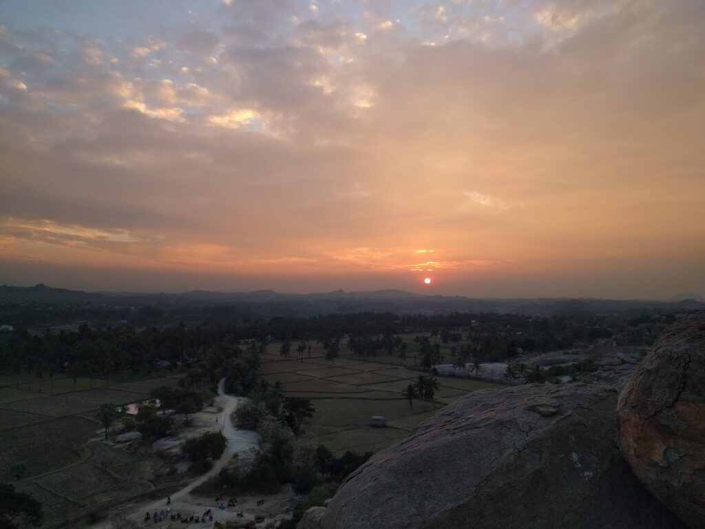 Hampi-Sunset point. Photo: Deepika Akhshar