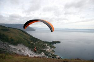 The view of Lake Toba from the Top of Pusuk Buhit. Photo: Nayla Azmi