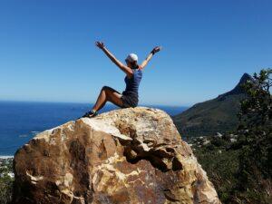 girl-joyous on mountain