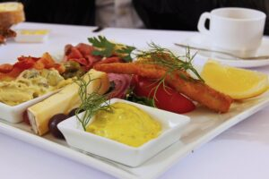 A plate of herring. Typical Danish cuisine